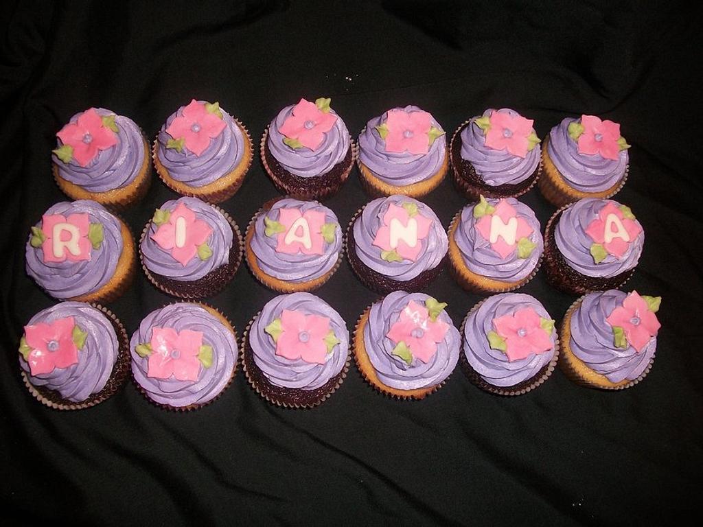Girlie Birthday Cupcakes by caymancake