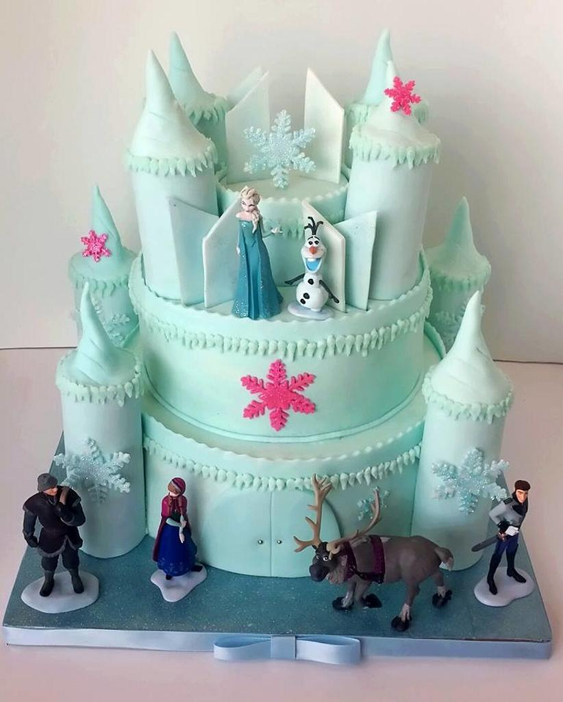 Frozen Castle Birthday CAke by Christie's Custom Creations(CCC)