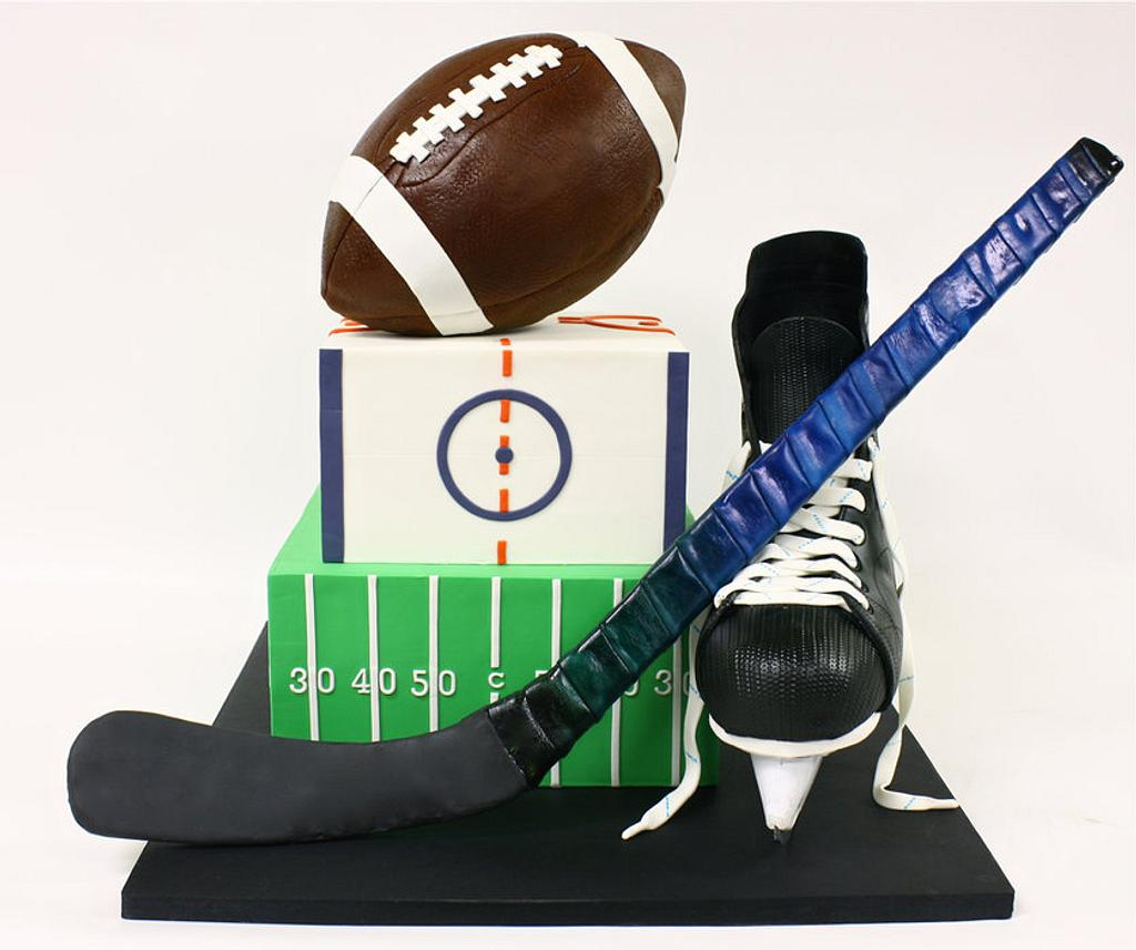 Sports Themed Bar Mitzvah Cake by Berliosca Cake Boutique