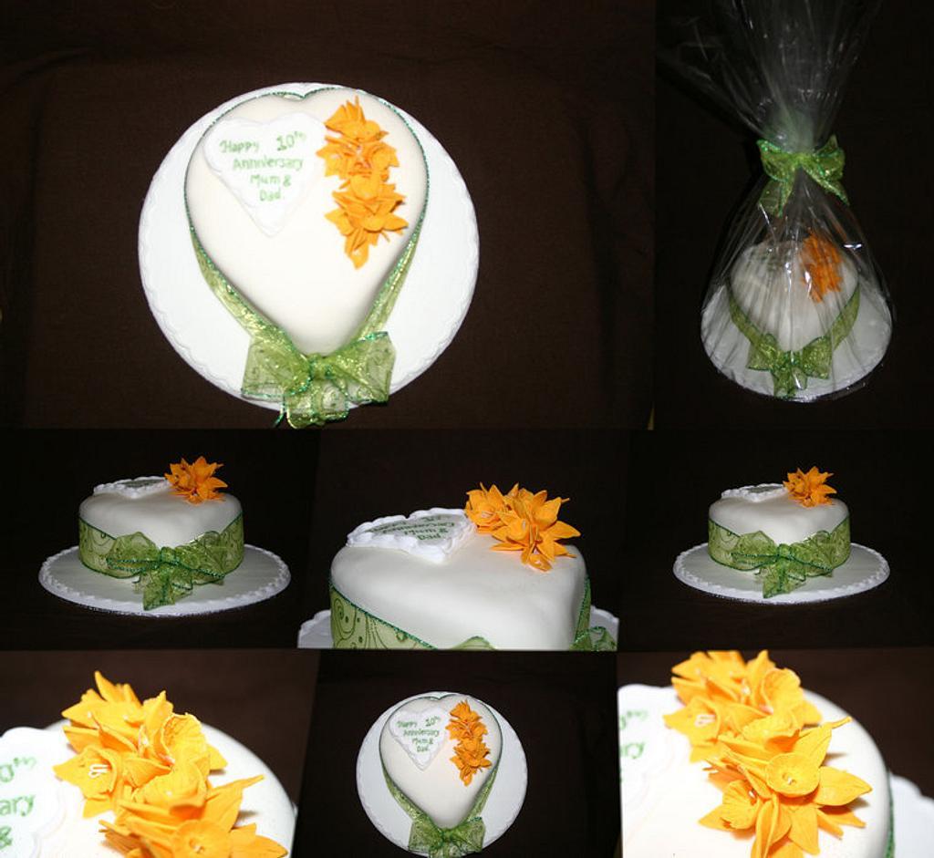10th Anniversary Cake - Daffodils by Tiggy