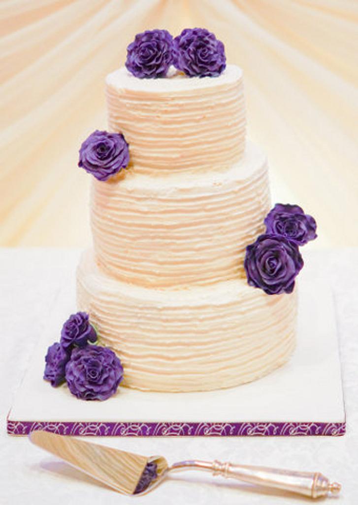 Simply Vintage Wedding Cake by PureCakery