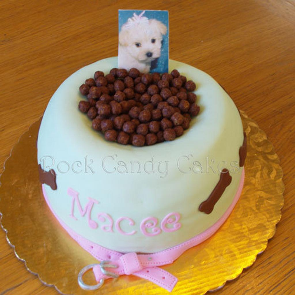 Dog Food Bowl by Rock Candy Cakes