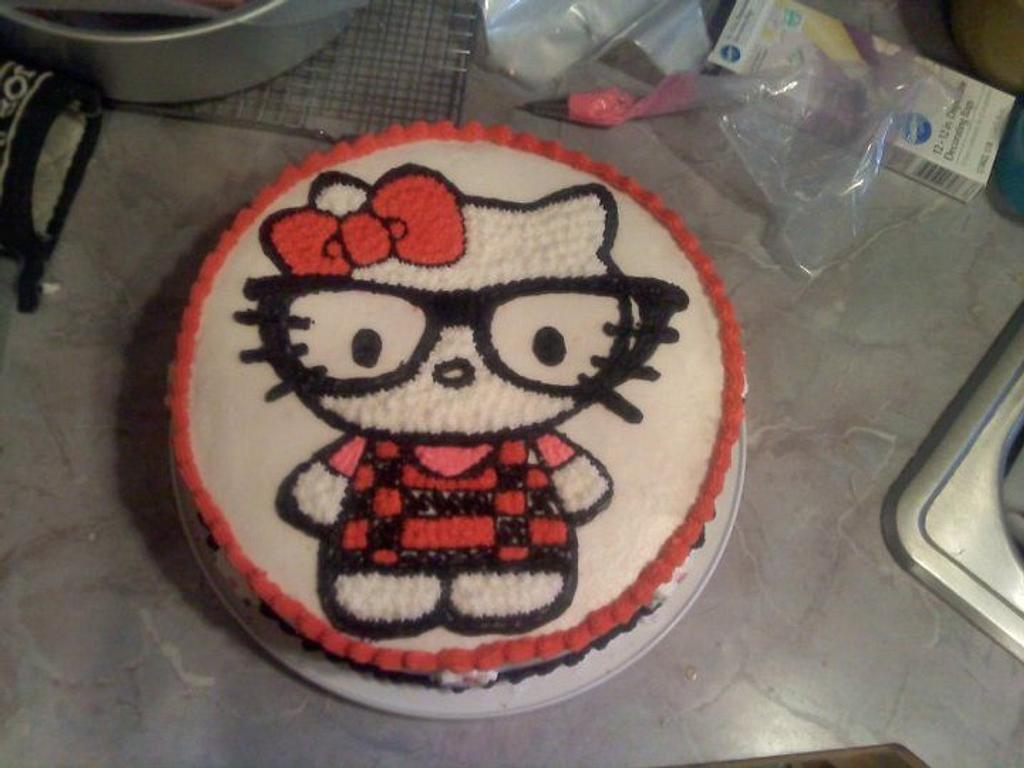Hello kitty nerd cake by angela
