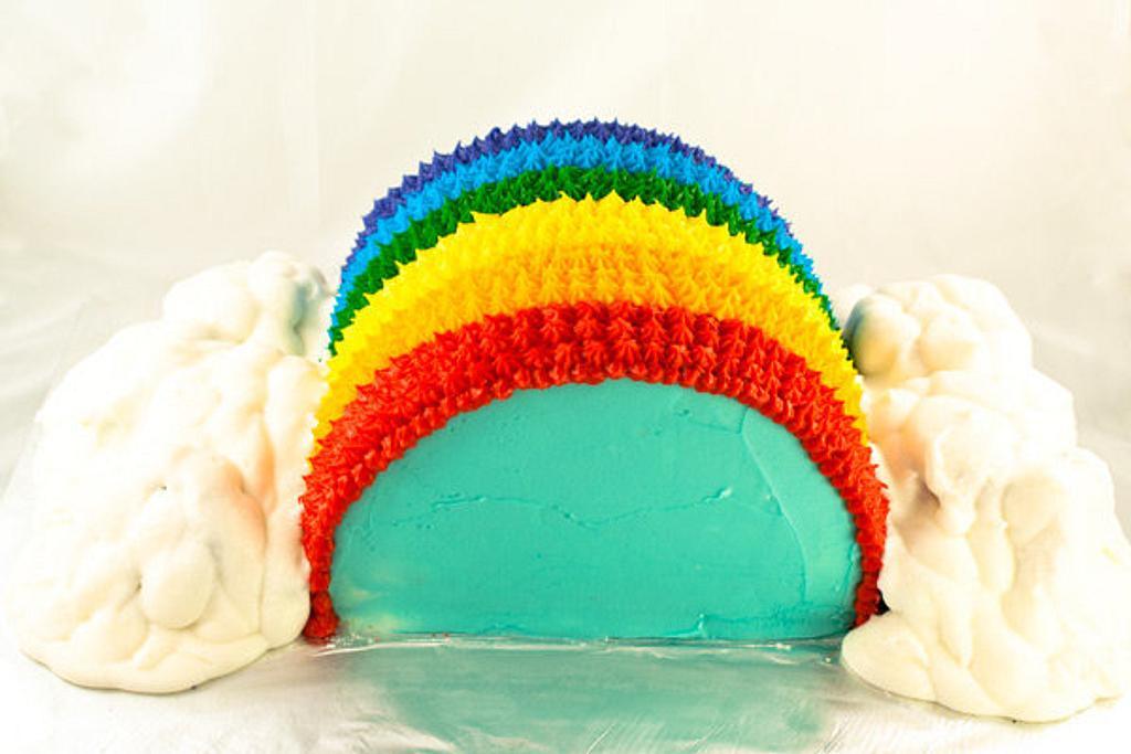 Rainbow Cake by Jenn