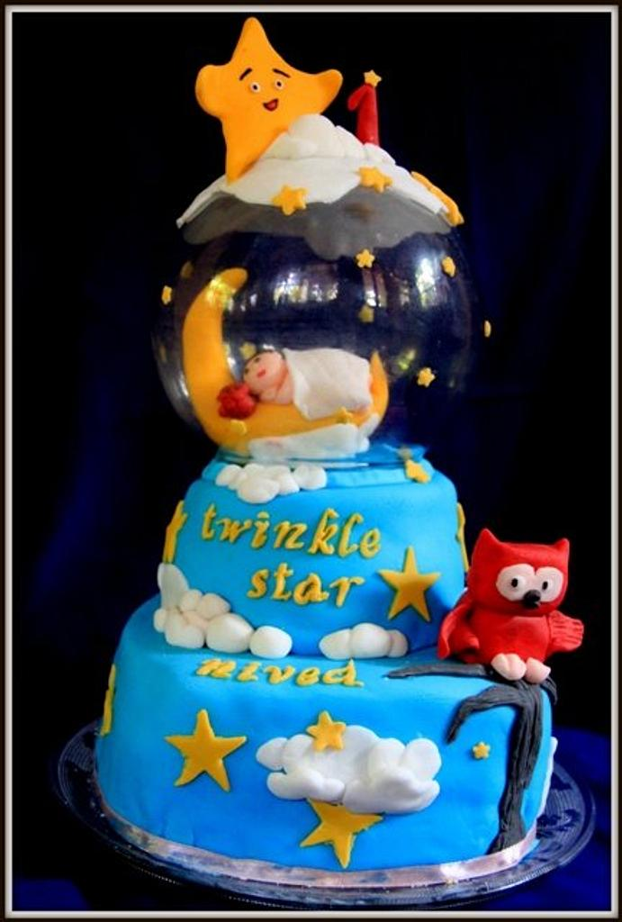 Twinkle Twinkle little star cake for my son  by Sreeja -The Cake Addict