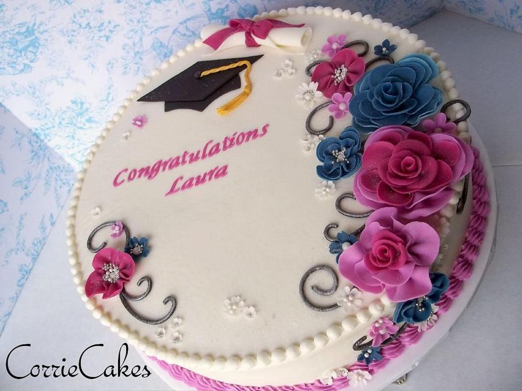 Floral graduation by Corrie