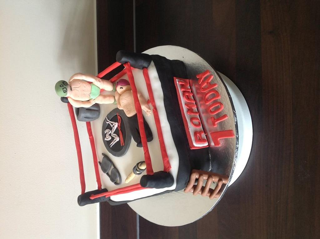 Cake number 10! WWE Cake!  by Jodie Taylor