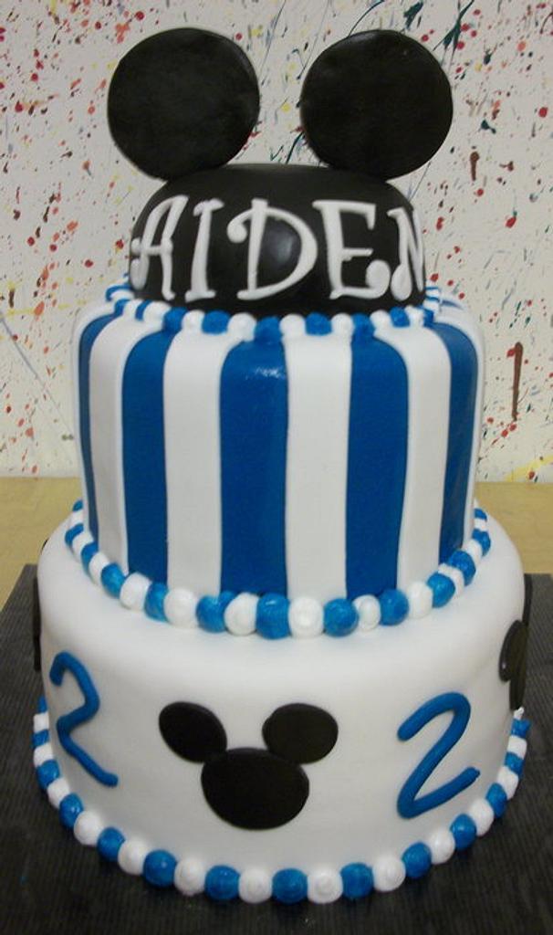Mickey Mouse Birthday Cake by Tracy's Custom Cakery LLC
