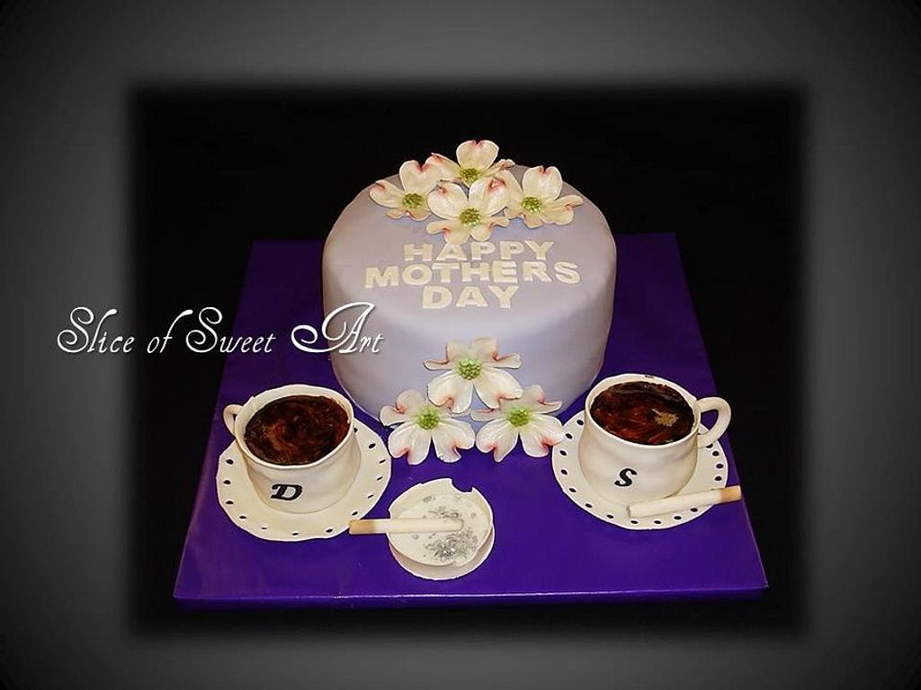 Coffee Break Mother's Day Cake by Slice of Sweet Art
