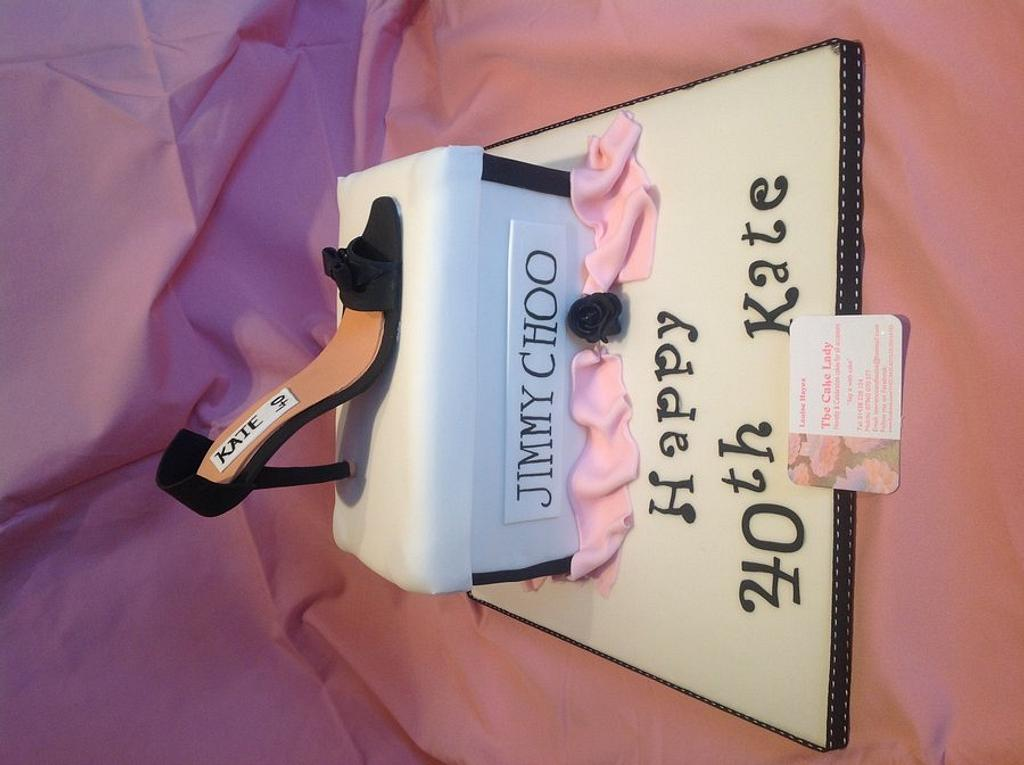 Jimmy Choo cake by Louise Hayes