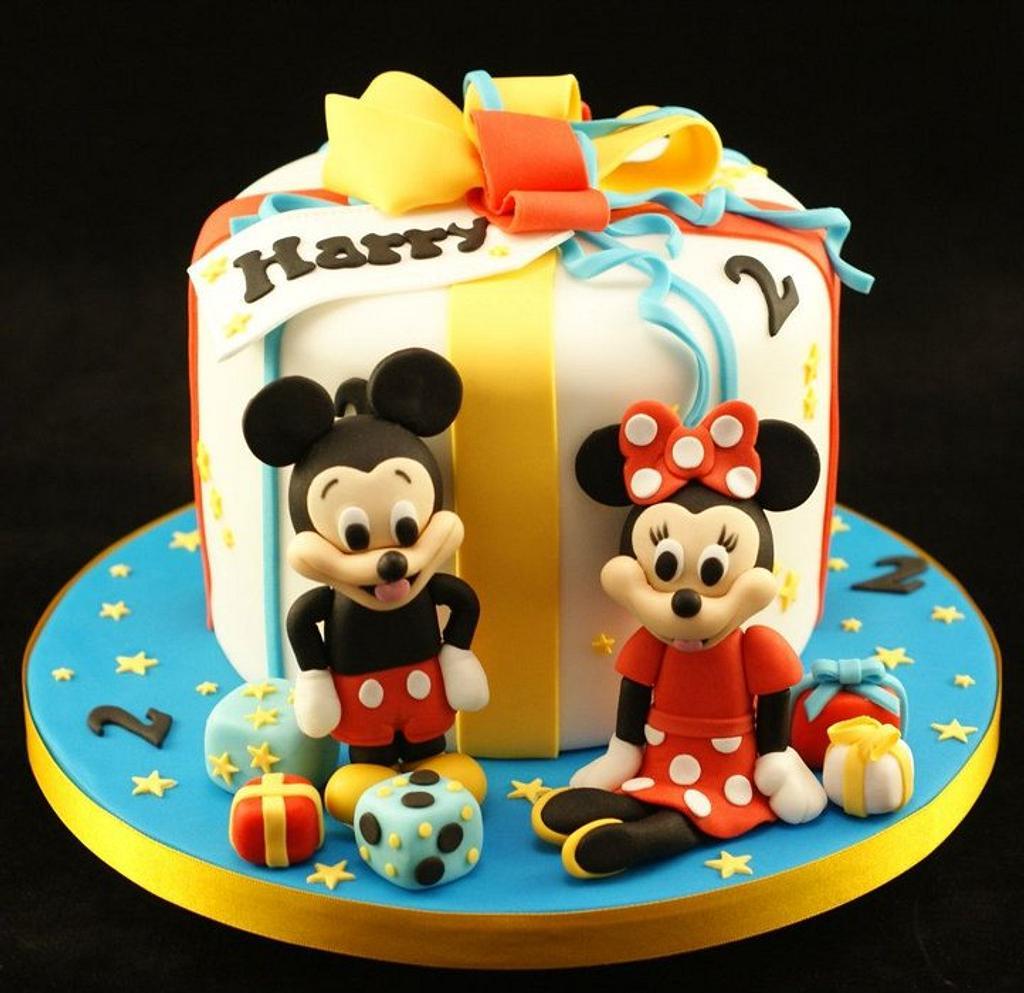 Mickey and Minnie birthday cake by Kathryn