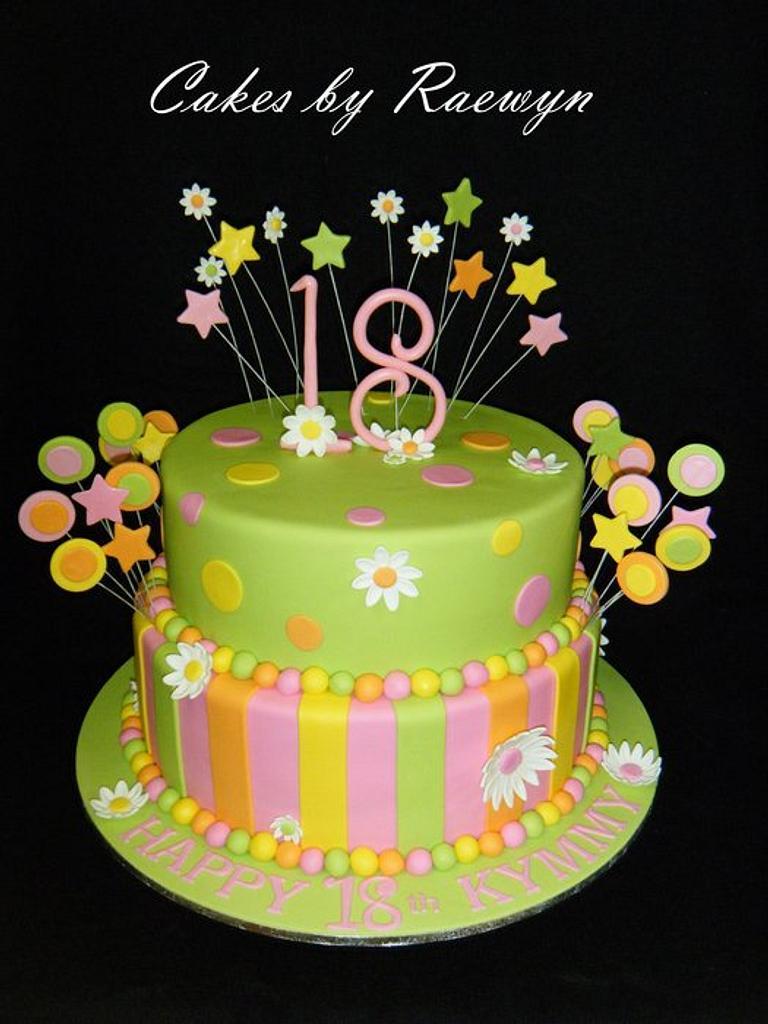 Fluoro Birthday Cake by Raewyn Read Cake Design