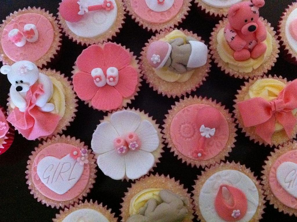 Girly Baby Shower Cupcakes :) by Kayleigh