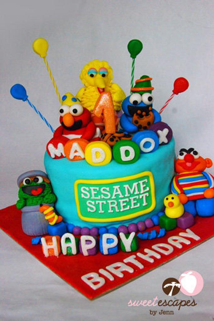 Sesame Street Party Cake by Jenn Chao