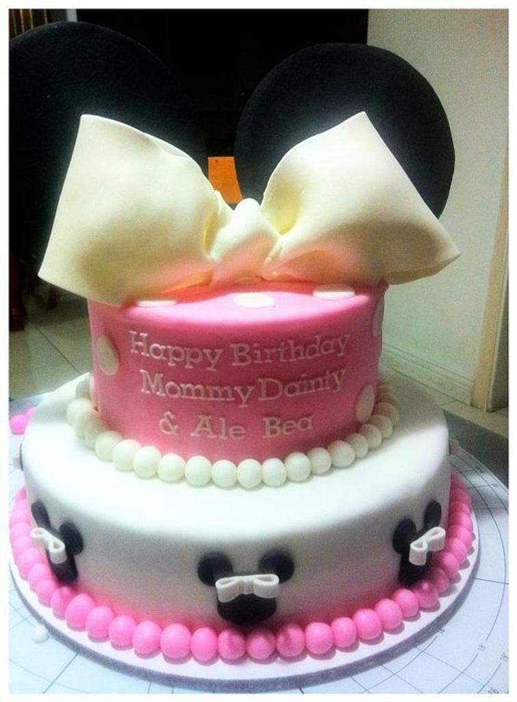 Minnie Mouse Cake by Sugar Rush by Anne