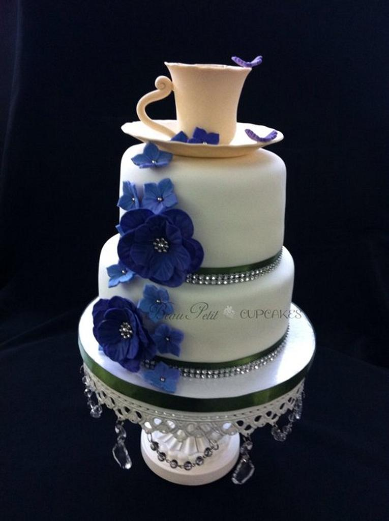 High Tea Bridal Shower Cake by Beau Petit Cupcakes (Candace Chand)