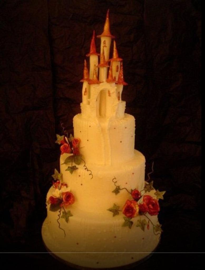 Enchanted castle wedding cake by Alisonarty