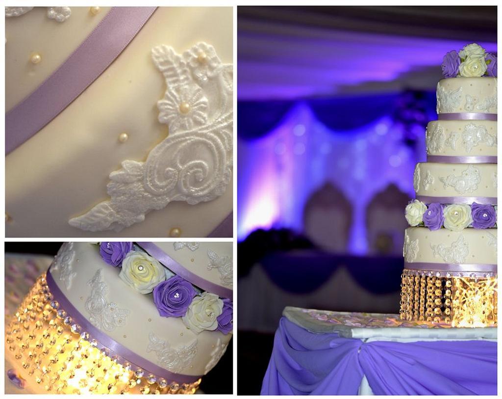 Lace Wedding Cake by Farida Hagi