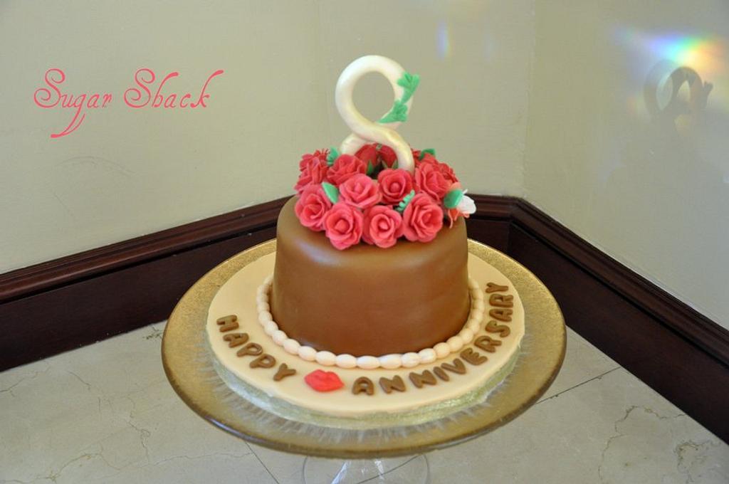 8th anniversary cake by shahin