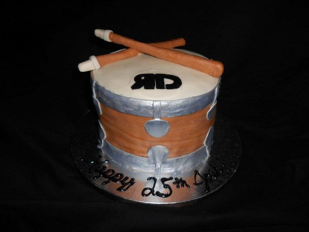 Drum Cake by Cakes by Kate