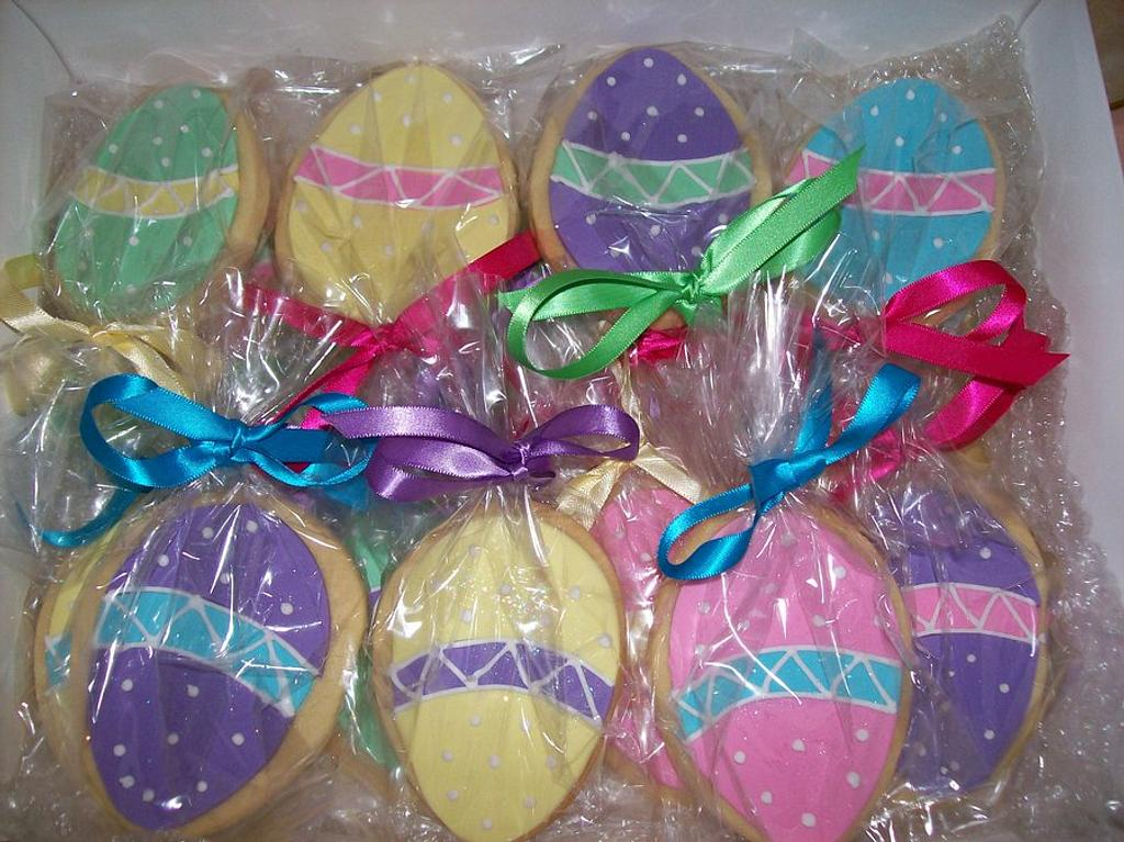 Easter Egg Sugar Cookies by Sarah