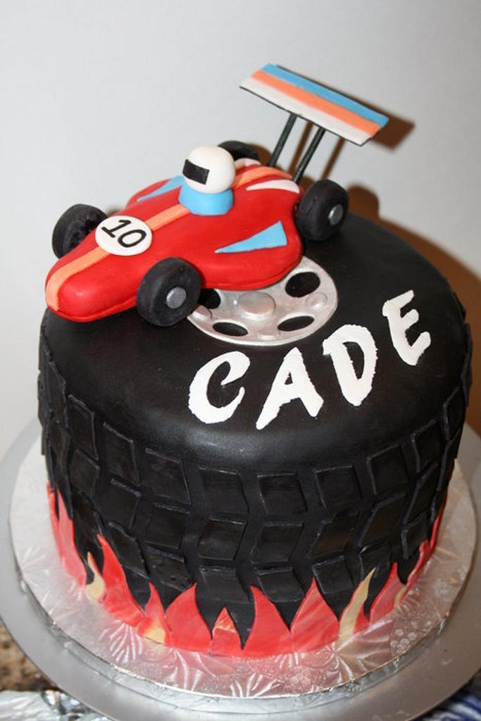 Race Car Cake by Leila