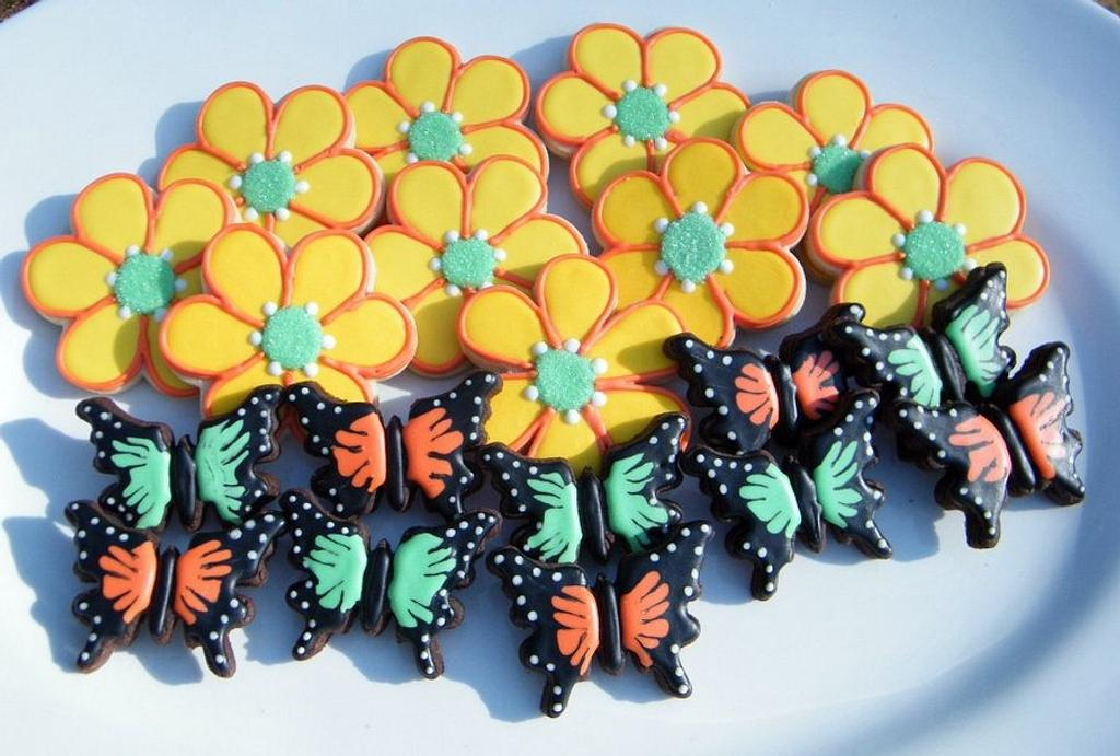 Flower and Butterfly Cookies by Alicia