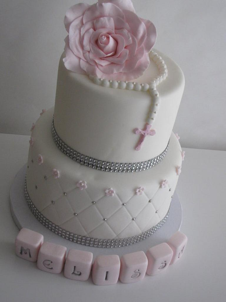 First Holy Communion cake! by Sandra Caputo