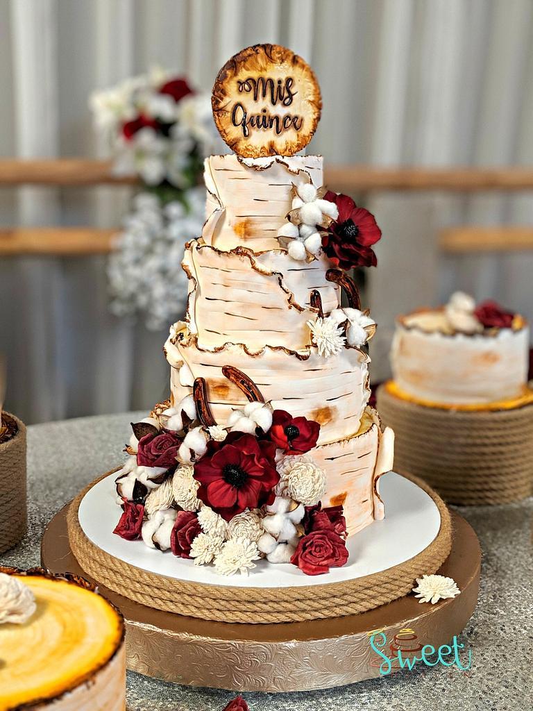 Birch Cake  by Sweet Heaven Cakes