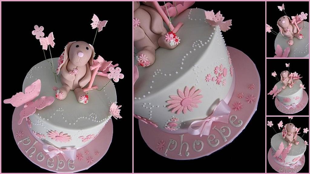 Pretty bunny cake by Veronika
