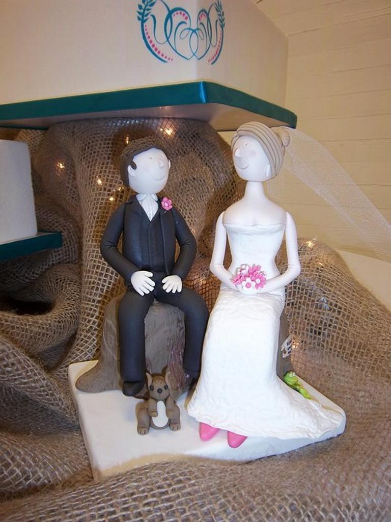 Fondant Bride & Groom by Terry