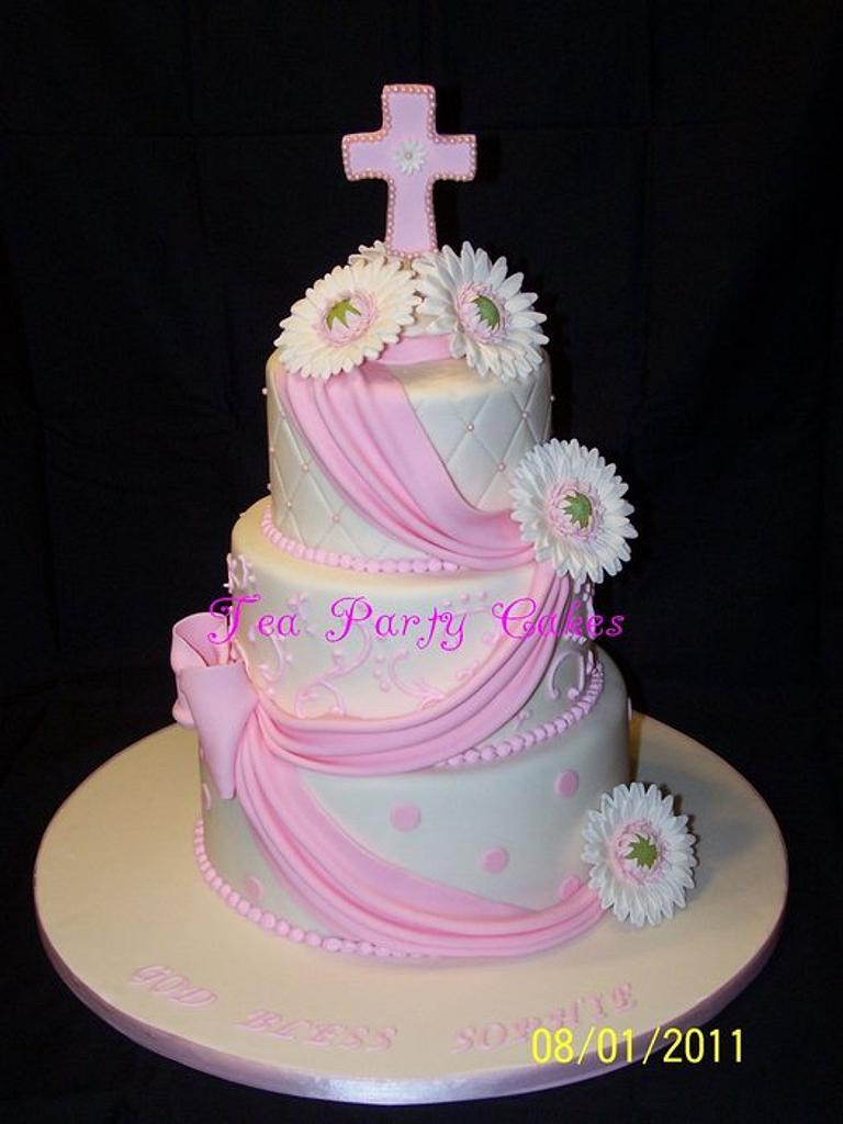 Gerbera Daisy Baptism by Tea Party Cakes