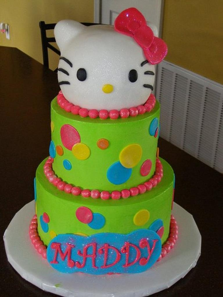 Lime Green Hello Kitty by Misty