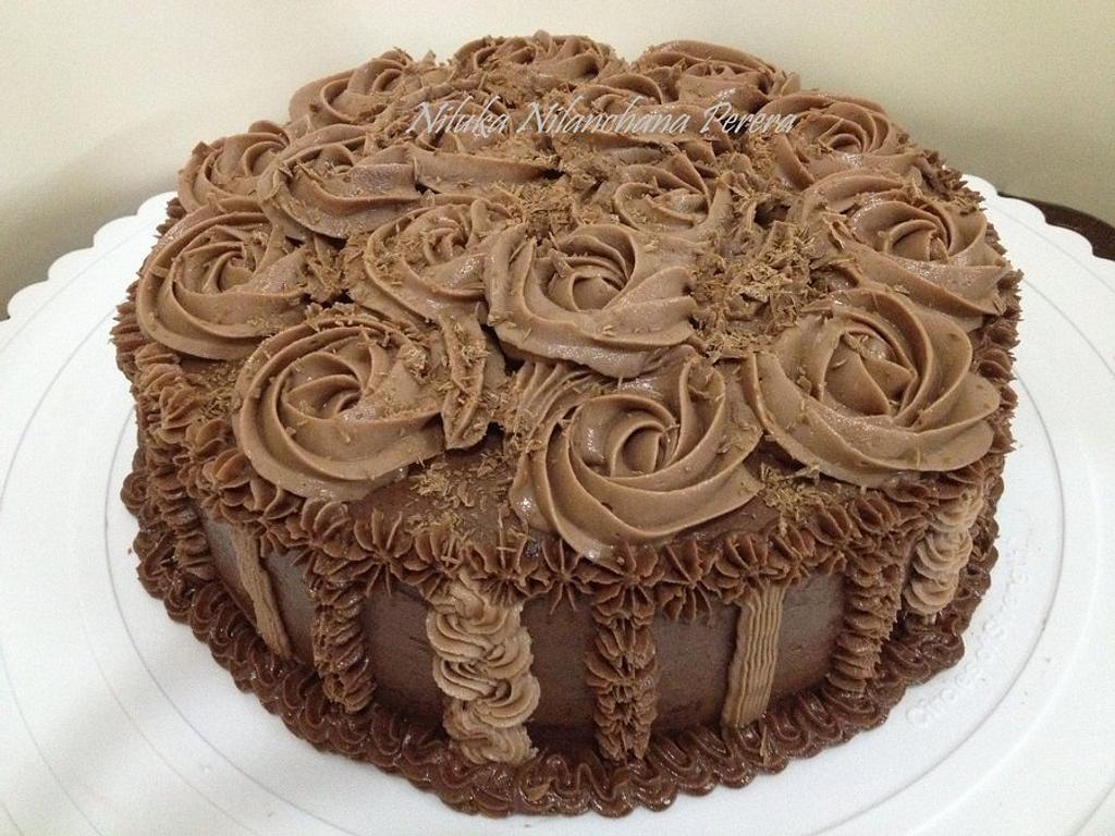 Chocolate Rosette cake by Nilu's Cake D'lights