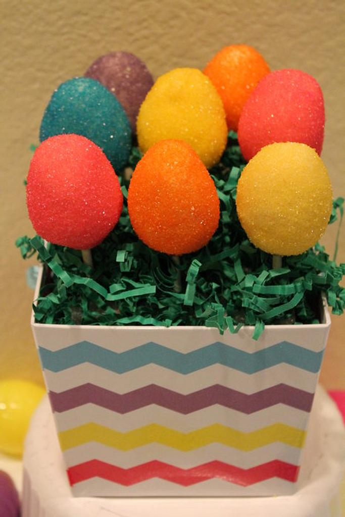 Easter egg cake pops by carolyn chapparo