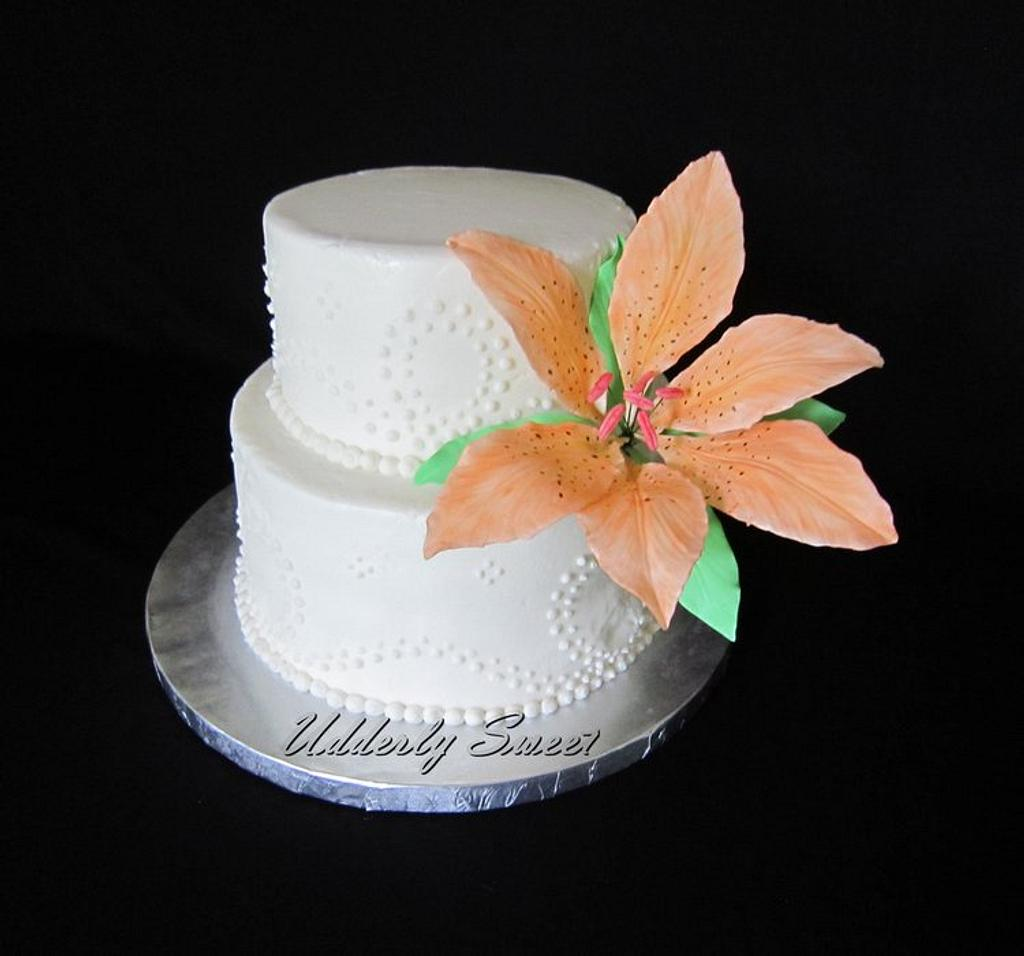 Tiger Lily Birthday Cake by Michelle