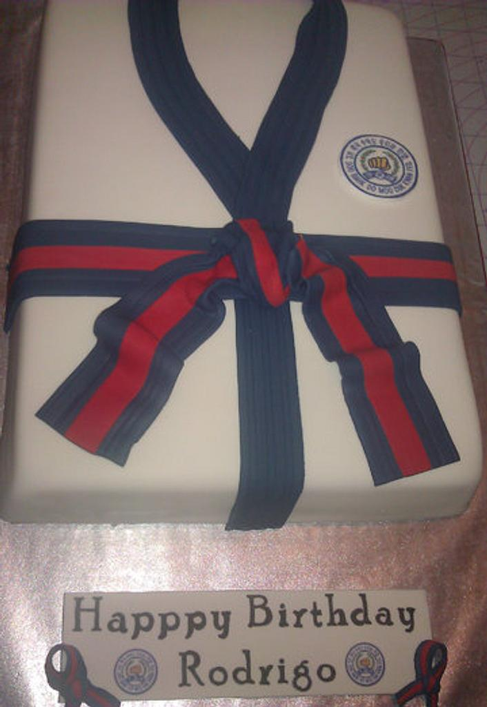 Soo Bahk Do: Martial arts Gi cake by Cakery Creation Liz Huber