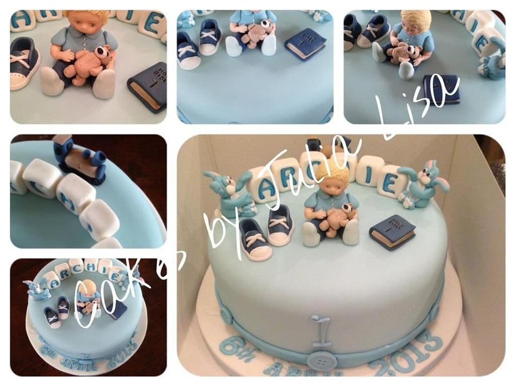 Joint Christening/first birthday by Cakes by Julia Lisa