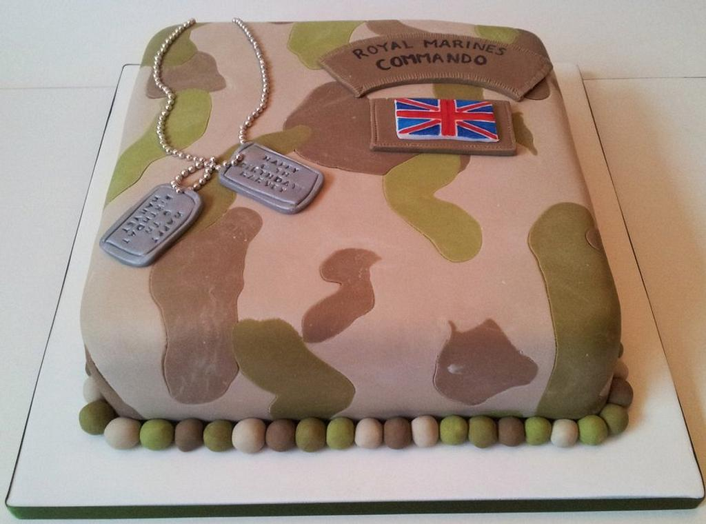 Army Camouflage Cake by Sarah Poole
