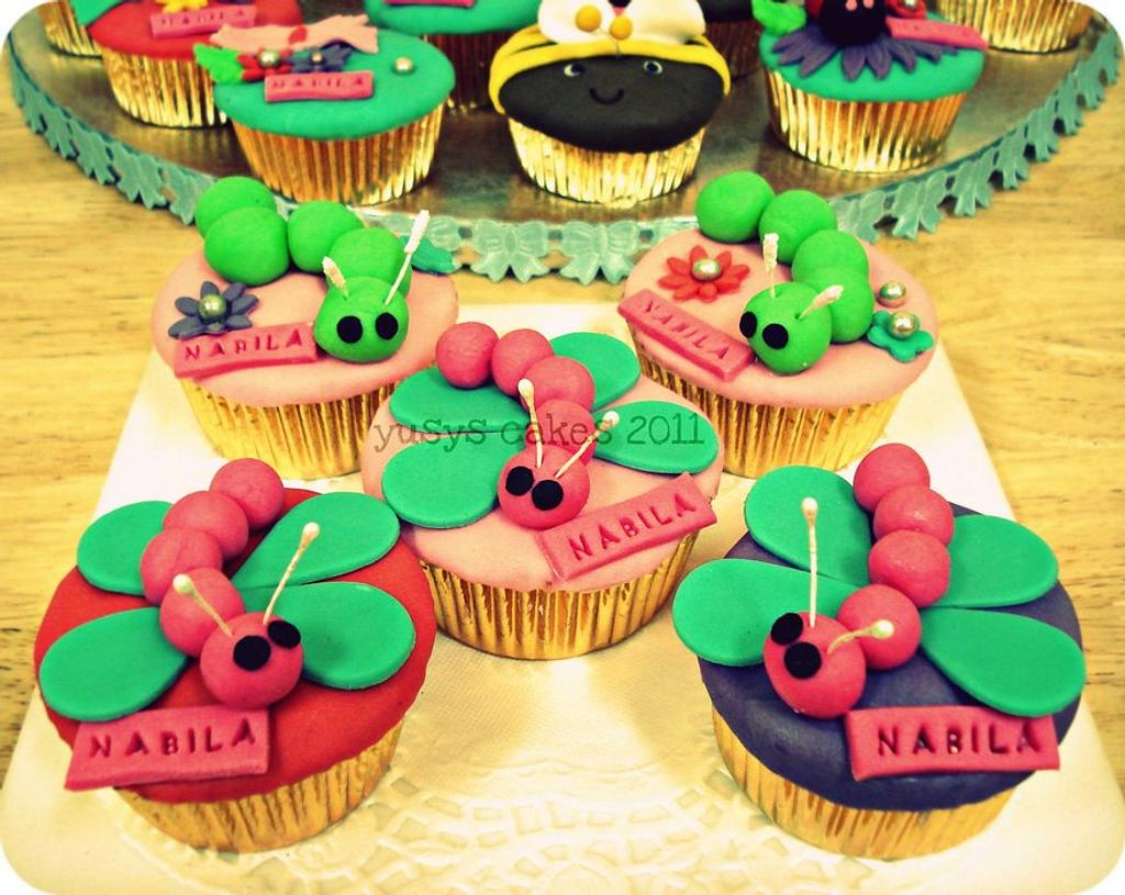 Dragonfly Cupcakes by Yusy Sriwindawati