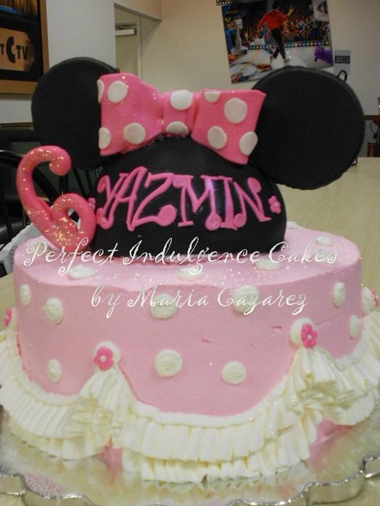 Minnie Mouse Cake for Jasmine by Maria Cazarez Cakes and Sugar Art