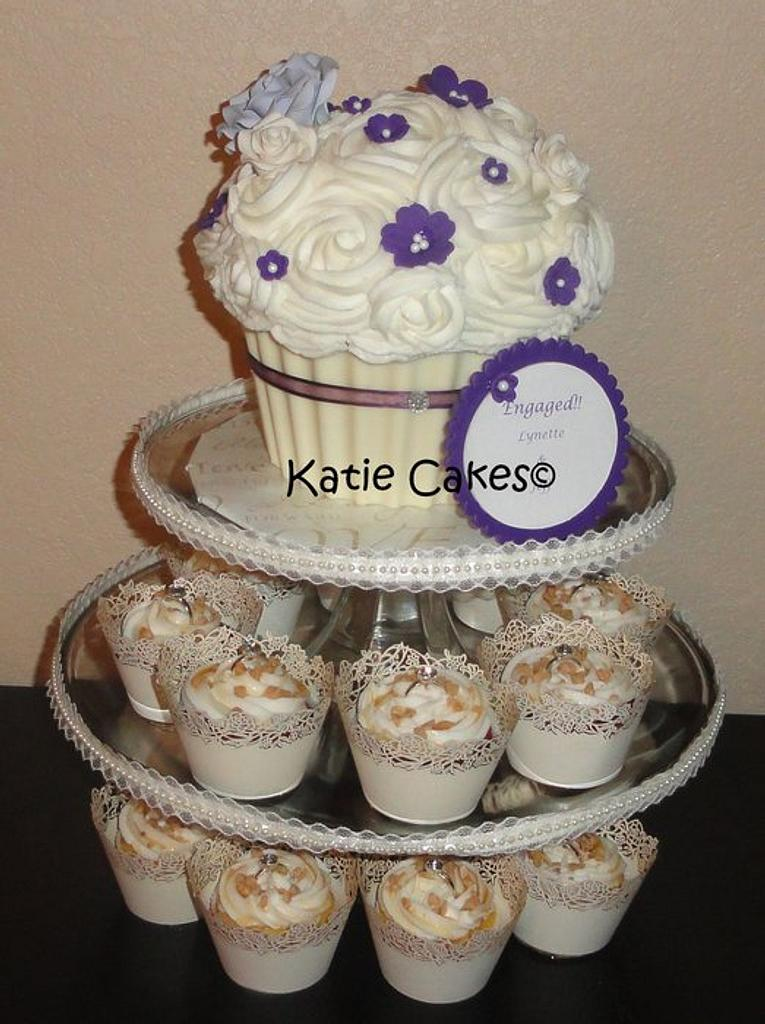 Purple and Ivory Giant Cupcake by Katie Cortes