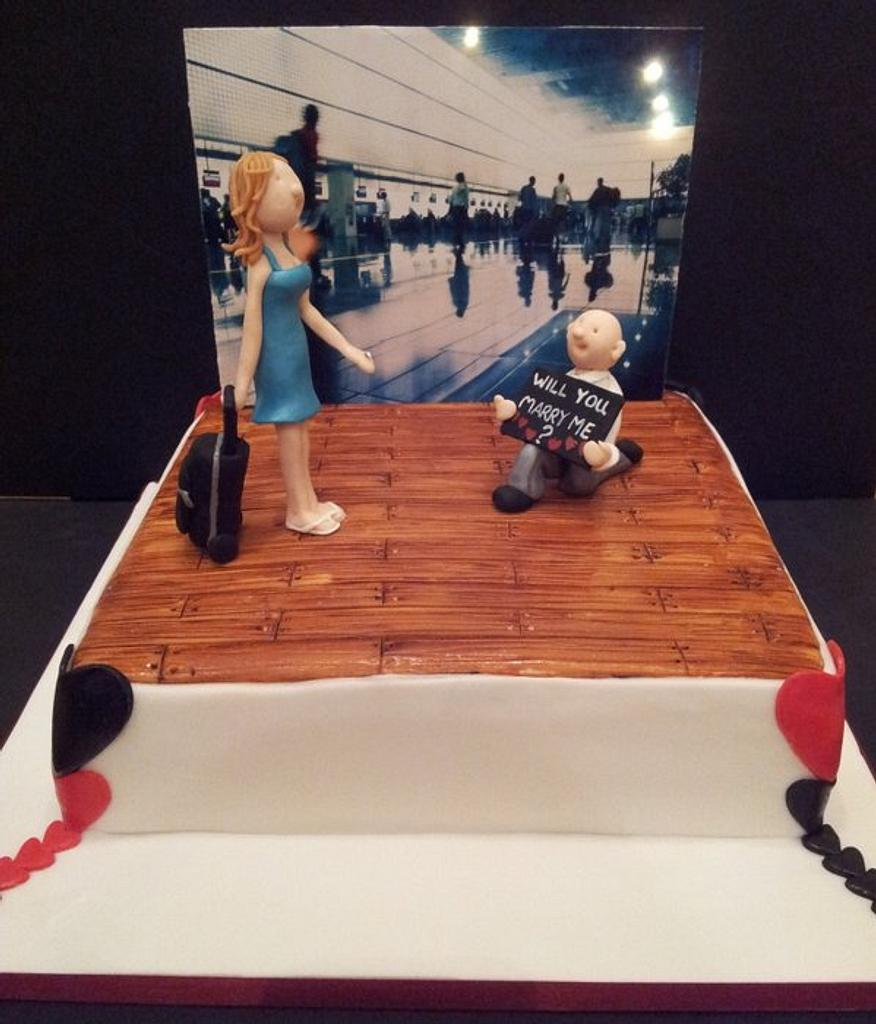 Engagement Cake by Sarah Poole