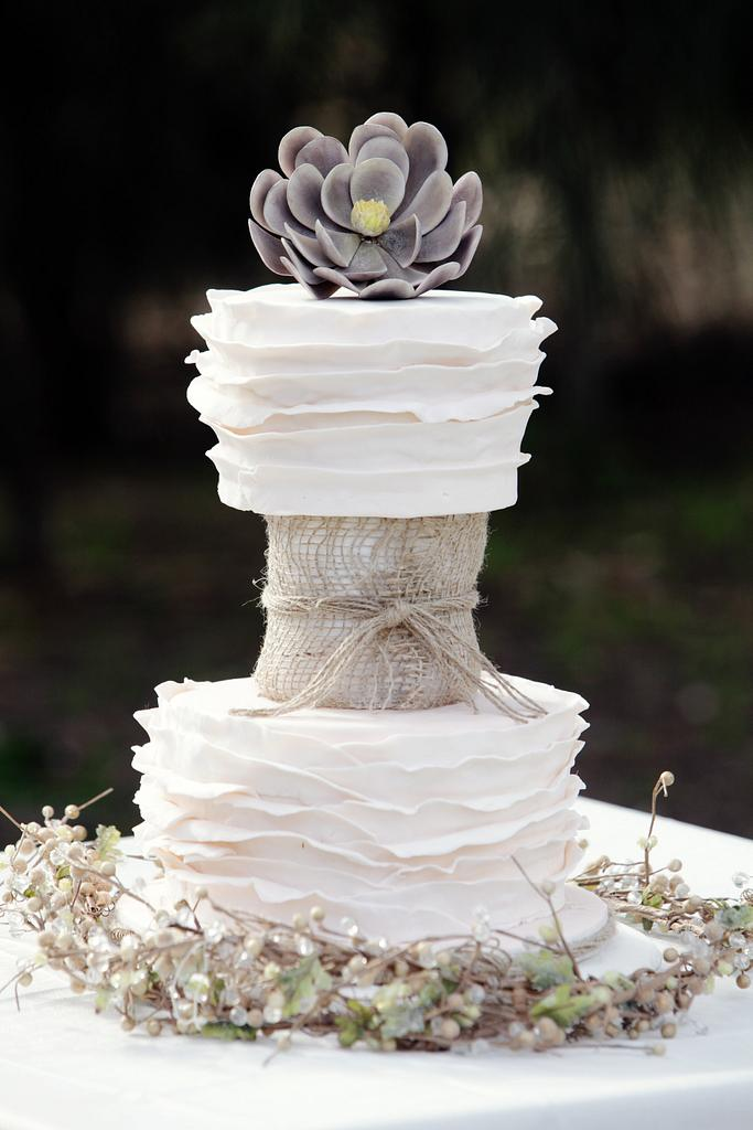 3 tier Boho Chic - Wedding Cake by Sharon Frost