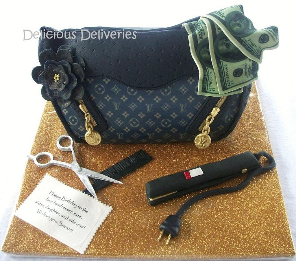 3D LV Purse Cake  by DeliciousDeliveries