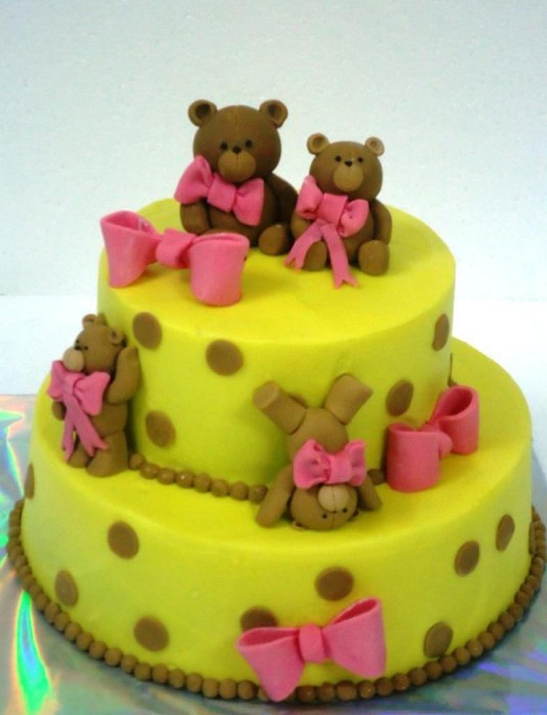 Teddy cake by Prachi Dhabaldeb