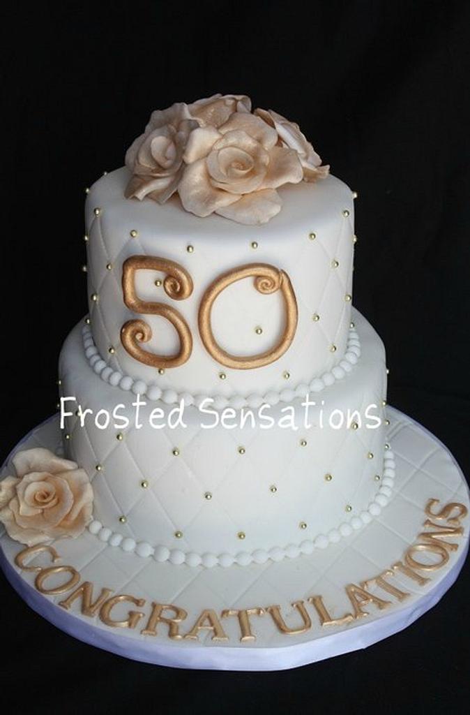 50th wedding anniversary cake by Virginia