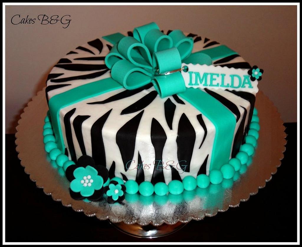 Zebra Birthday Cake  by Laura Barajas