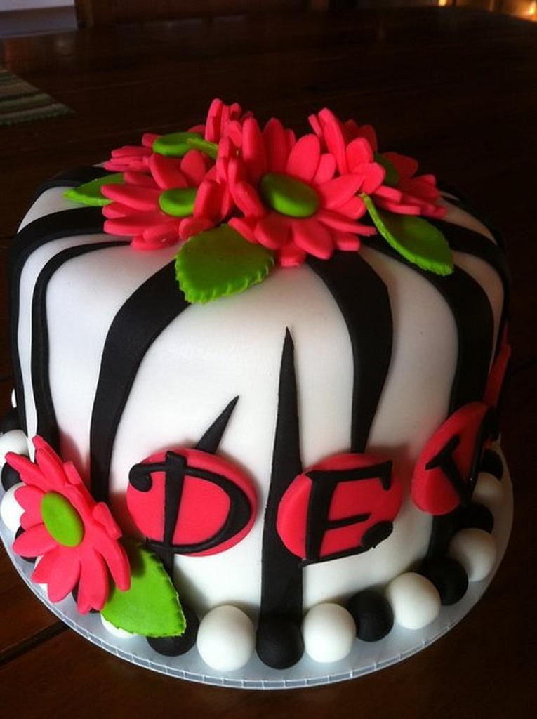 Zebra with Daisies by Kendra