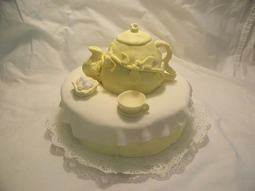 Tea Party Cake by Angel Rushing